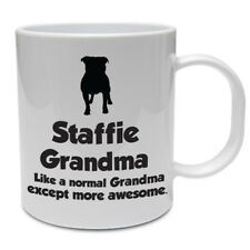 Staffordshire Bull Terrier Dog Mug - STAFFIE GRANDMA - Funny Staffie Dog Gift
