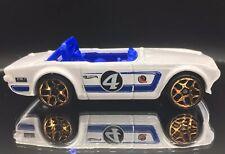 Hot Wheels Triumph TR6 White Die-Cast Model Car LOOSE Vintage Racing Mattel 1:64