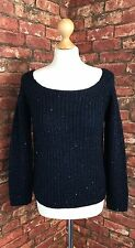 NEXT Ladies Blue Polyester Mix Chunky Knitted Jumper Long Sleeves Size 10