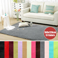 Modern Shag Shaggy Fluffy Area Rug Living Room Carpet Home Bedroom Rug 3x5