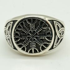 Nordic Compass 925 silver ring Viking Norse Thor Celtic Triskele Knotwork Pagan