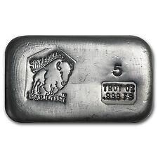 5 oz Silver Bar - Bison Bullion - SKU #80458