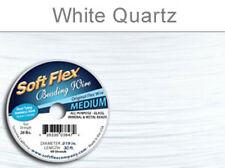 "Soft Flex 49 Strand White .019"" Medium Beading Jewelry Stringing Design Wire 30'"