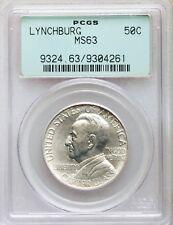 1936 PCGS MS63 Lynchburg Sesquicentennial VA Commemorative Half Commem OGH BU
