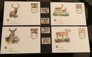 2009 Bactrian Deer WWF FDC & Stamps MUH tajikistan