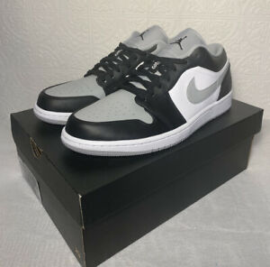 "Air Jordan 1 Low ""Smoke Grey"" 553558-039 Men's Size 11 Basketball Shoes"