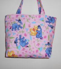 Handmade Winnie the Pooh & Eeyore & flowers Tote Purse Bag