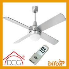DCG Ventilatore a Soffitto con Luce e Telecomando 128 cm - Argento