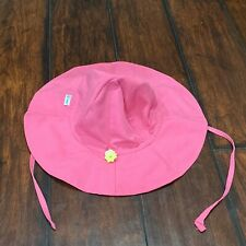Baby Beach Sun Hat 2T-4T UPF 50+ Pink Brim Coverup by iplay Toddler Play Cap