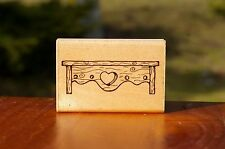 Country Shelf Wood Heart Mantle Wood Mounted Rubber Stamp by D.O.T.S. J 207