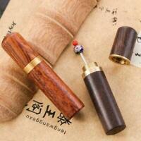 Wooden Sewing Organizer Needle Box Safety Case Toothpick Holder Storage V5B Q3L3