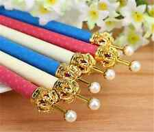 3Pcs Automatic Mechanical Pencil Kawaii And Fresh Polka Dot Type Pearl Crown