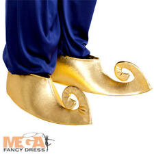 Sultan Genie Shoe Covers Adults Fancy Dress Arabian Book Day Costume Accesory