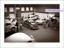 VW Volkswagen Beetle Karmann Ghia Car Stourbridge Print Picture