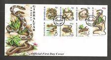 GIBRALTAR 2001 SNAKES FDC SG,960-966 LOT 5272A