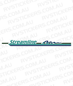 WINDSOR STREAMLINE Caravan decal, sticker, vintage, graphics 700mm