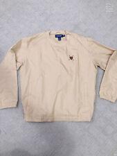Men's Polo Golf Ralph Lauren Pullover Wind Jacket Windbreaker Beige Medium