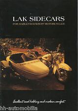 Prospekt brochure LAK sidecars Beiwagen f. Harley Davidson 2002 NL D GB Motorrad