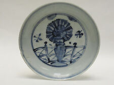 ANTIQUE MING DYNASTY BLUE & WHITE 15/16 c. PLATE CHARGER 明代瓷器