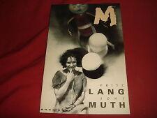 M Book One Fritz Lang Jon J Muth - Eclipse Comics Graphic Novel NM