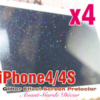 iPhone4/4S Multicolour Diamond Glitter Effect Screen Protector (Front & Back)