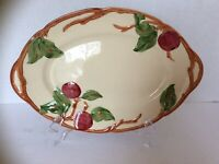 "Franciscan Apple Ware, An Oval Serving Platter 12 1/2"", one small chip on rim."