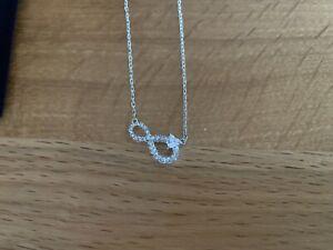 Swarovski Infinity Silver Necklace