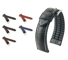 "HIRSCH Performance Watch Band, Model ""George"", 20-24 mm, 4 colors, (L), new!"