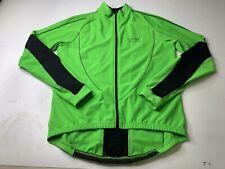 Gore Bike Wear Men's Large Windstopper Winter Cycling Jacket Fleece Green/Black