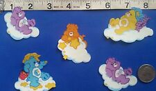 NEAT!! CARE BEARS GLOW-IN-DARK IRON ON FABRIC APPLIQUÉS - IRON ONS - PATCHES