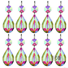 New 10X Chandelier Glass Crystals Lamp Prisms Parts Hanging Drops Pendants 38mm