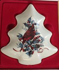 Lenox China Winter Greetings Tree Candy Dish Cardinal Catherine McClung New $43