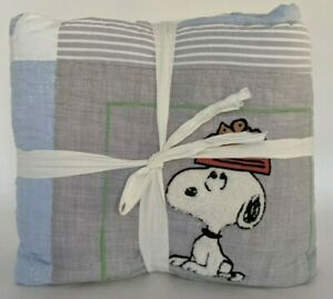New Pottery Barn Kids Peanuts Snoopy & Woodstock twin quilt