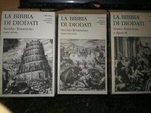 LA BIBBIA DI DIODATI 3 VOLUMI I MERIDIANI ( NO EDICOLA) OPERA COMPLETA