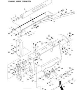 COUNTAX RIDER PTO to PGC DRIVE BELT Mower 228000300=WW5655 Powered Grass Sweeper