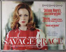 Cinema Poster: SAVAGE GRACE 2008 (Quad) Julianne Moore Eddie Redmayne Tom Kalin