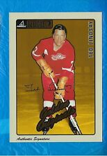 TED LINDSAY AUTO 1997-98 BEEHIVE GOLDEN ORIGINALS AUTOGRAPHS DETROIT RED WINGS