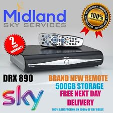 SKY + PLUS HD BOX 500GB SLIM LINE RECEIVER/RECORDER WITH REMOTE AND POWER CABLE!