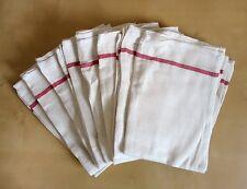 Cotton Dish Flour Sack Kitchen 8 Towels French Stripe Dinner Napkins Hotel
