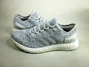 Adidas Men's Pureboost Running White/Grey Trainers Sneakers,US Size 9.5,New