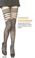 Halterlose Strümpfe Stockings schwarz Gothic Girlie Lady sexy elegant