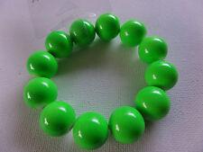 FUNKY CHUNKY GREEN NEON DISCO FLUORESCENT UV GLOW BEAD BRACELET new