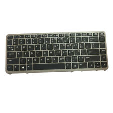 New US Laptop Keyboard Keypad for HP EliteBook 740 745 G1 G2 Silver-frame
