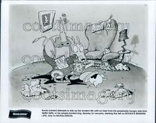 1993 Rocko Tries to Clean House Heffer Spunky Rockos Modern Life TV Press Photo