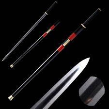 Composite Folded Pattern Steel six sides Han Sword sharp Copper Fittings #0023