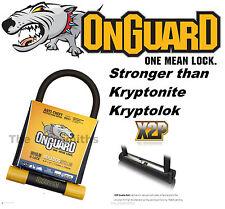 """OnGuard Bulldog 8010LM U-lock Bike 9"""" x 4.5"""" 2X Locking fit Kryptonite Keeper 12"""