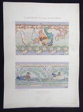 PLANCHE 12 DECORATION PICTURALE 1900 LANGE MOSAIQUE Art nouveau Jugendstil Mucha