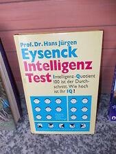 Intelligenz Test, von Prof. Dr. Hans Jürgen Eysenck