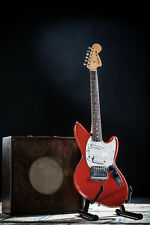 RARE ORIGINAL MIJ 1995/96 FENDER JAGSTANG GUITAR IN RED DESIGNED BY KURT COBAIN