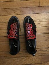 Northwave Spin Shoes Black & Red Velcro closure 2 Bolt Size 42 North Wave